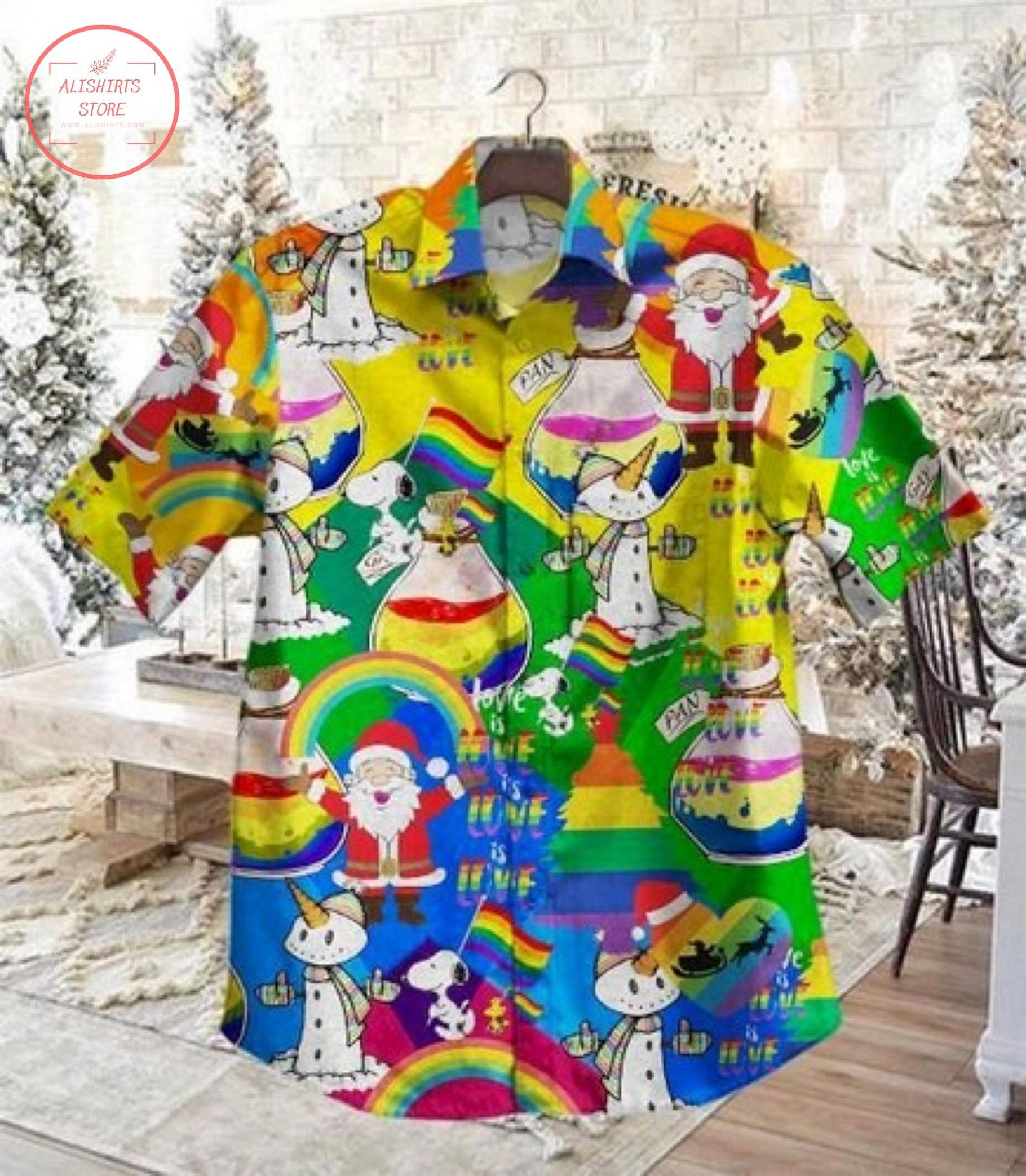 Lgbt Christmas Dh Vintage Short Sleeve Hawaiian Shirt