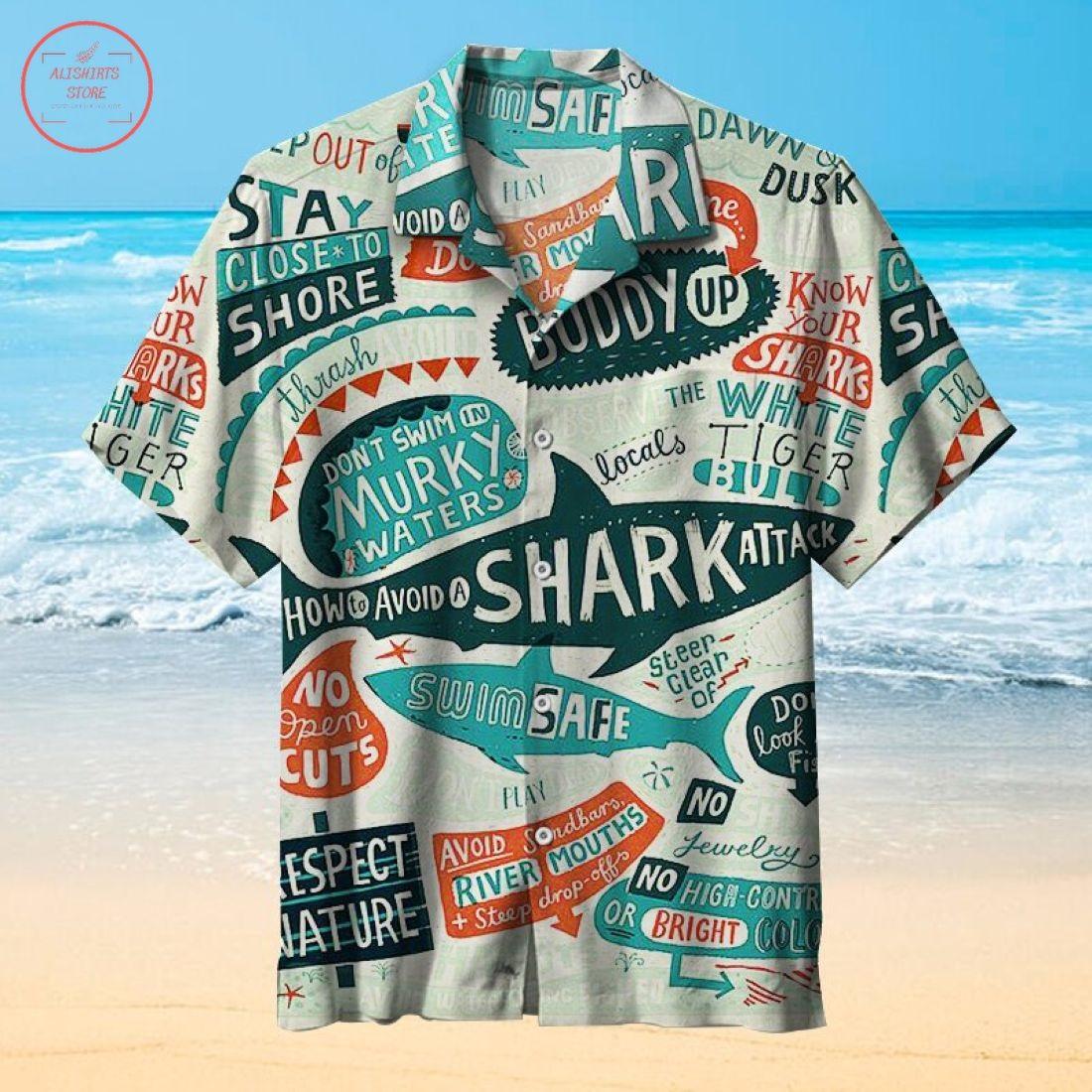 How to avoid a shark attack Hawaiian Shirt