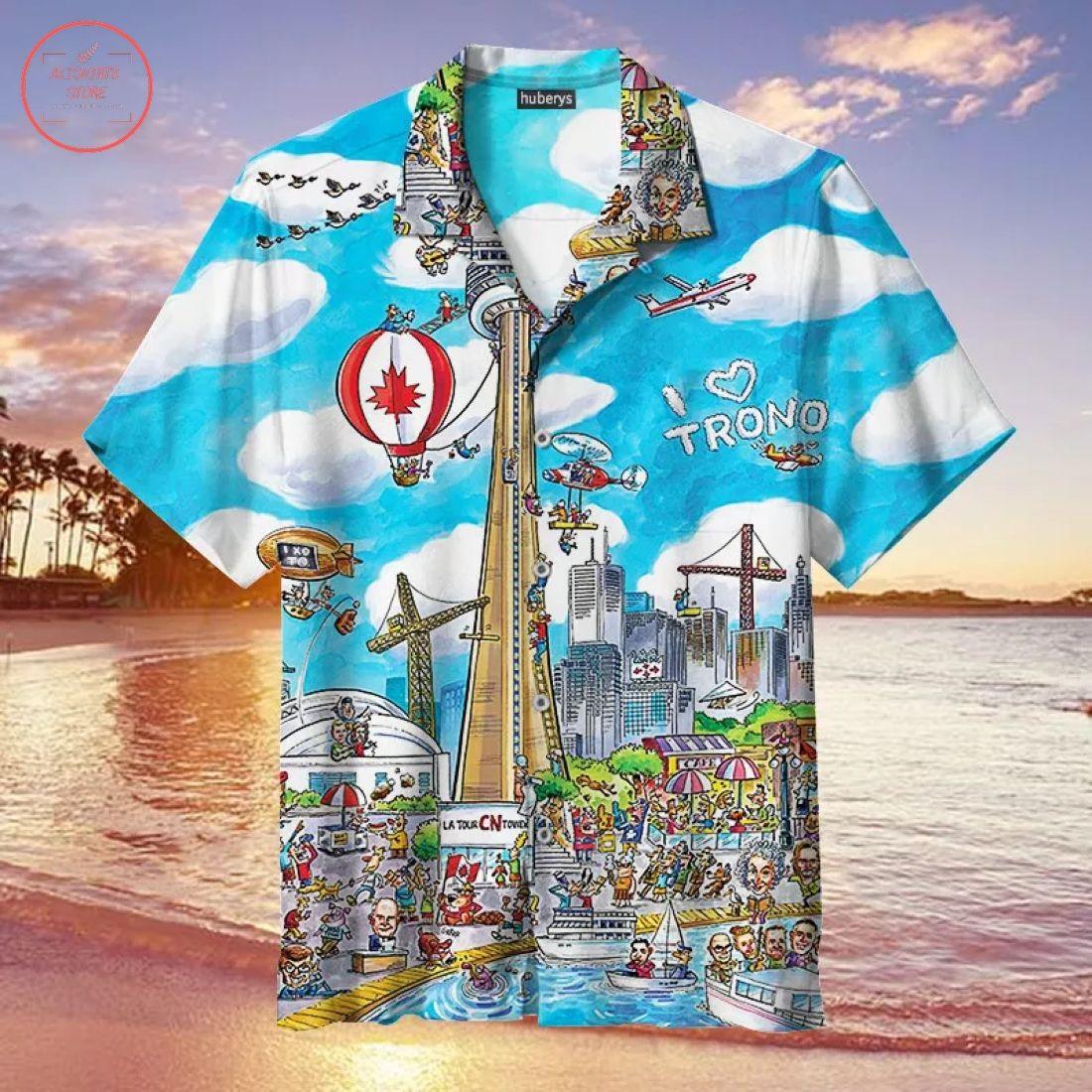 I Love Toronto Hawaiian Shirt