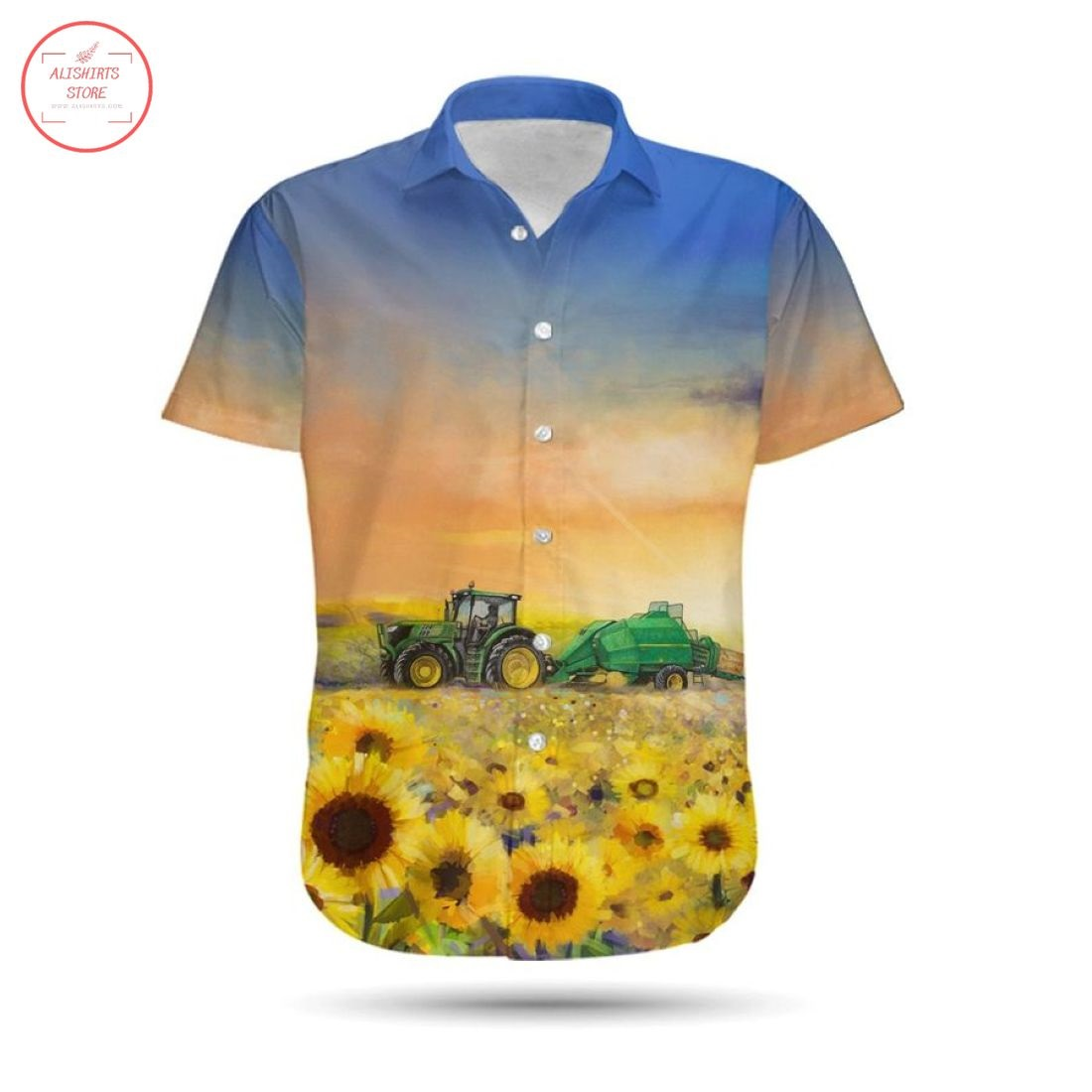 I'm A Farmer Tractor Hawaiian Shirt