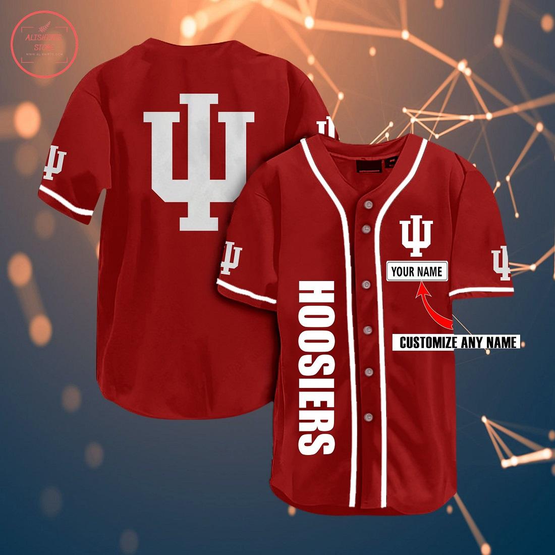 Indiana Hoosiers Personalized Baseball Jersey