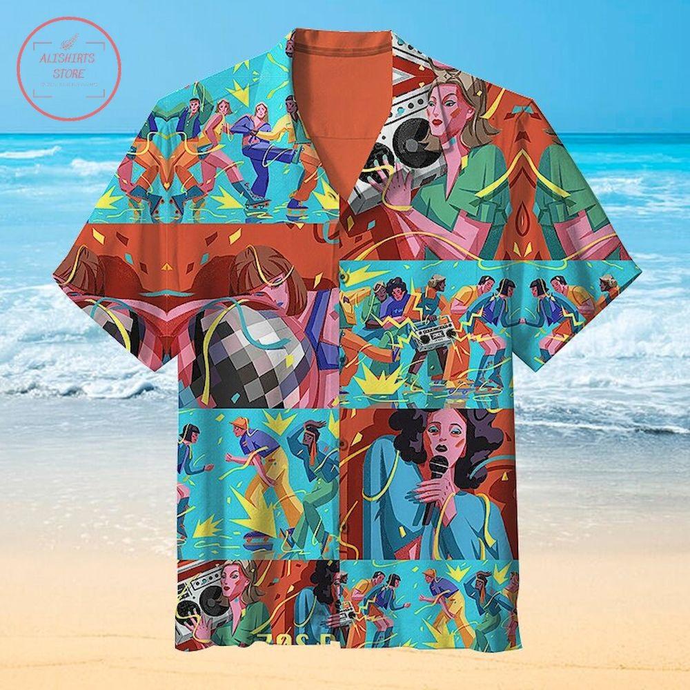 Interesting 70s disco Unisex Hawaiian Shirt