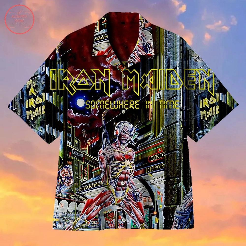Iron Maiden Somewhere in Time Hawaiian Shirt