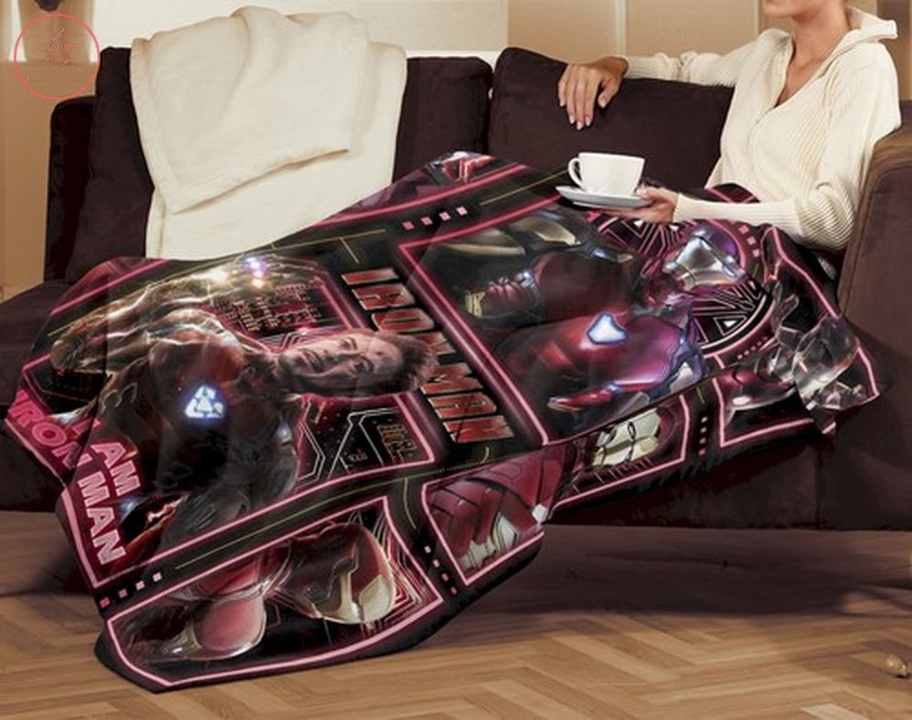 Iron Man Avengers Superhero Fleece Blanket