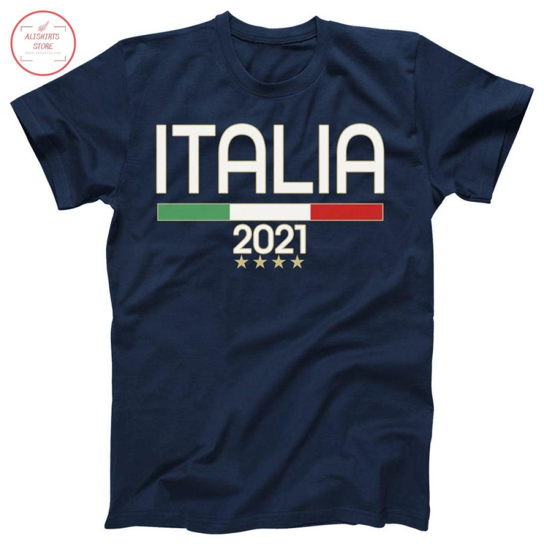 Italia Soccer Team Futboll Fan 2021 Shirt
