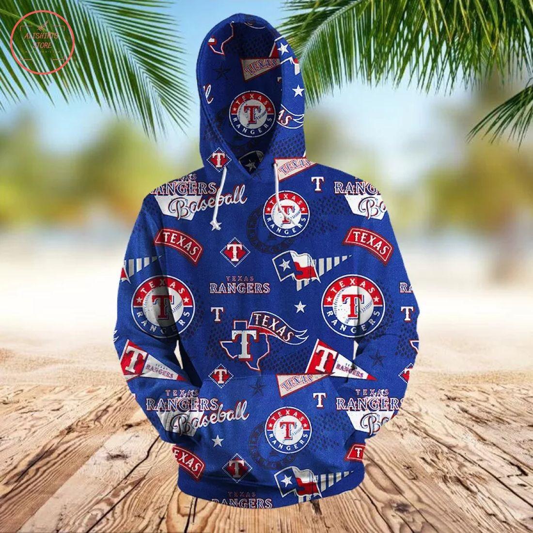 MLB Texas Rangers 3D Hoodie