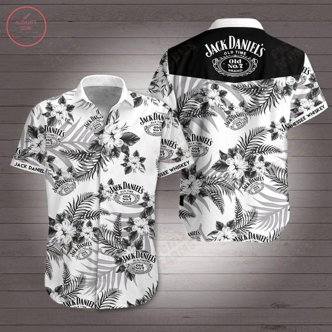 Jack Daniels Tennessee Whiskey Hawaiian Shirt