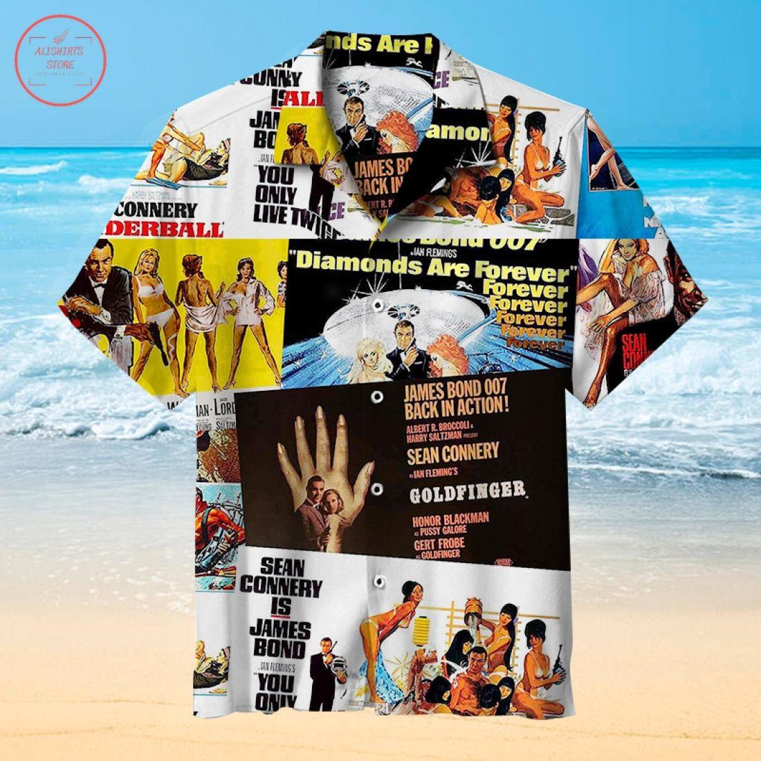 James Bond Movie Hawaiian Shirt