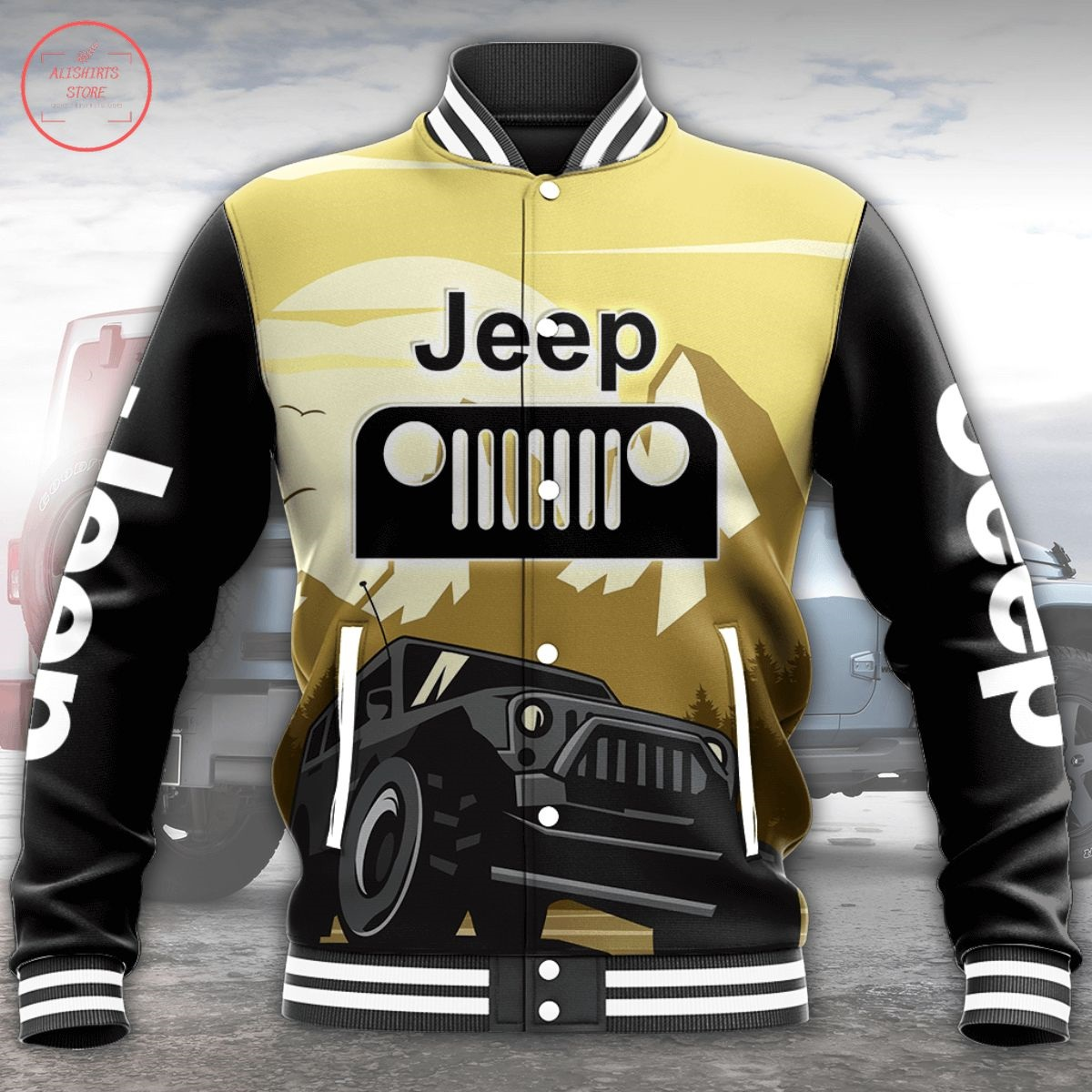 Jeep All Over Print Letterman Jacket