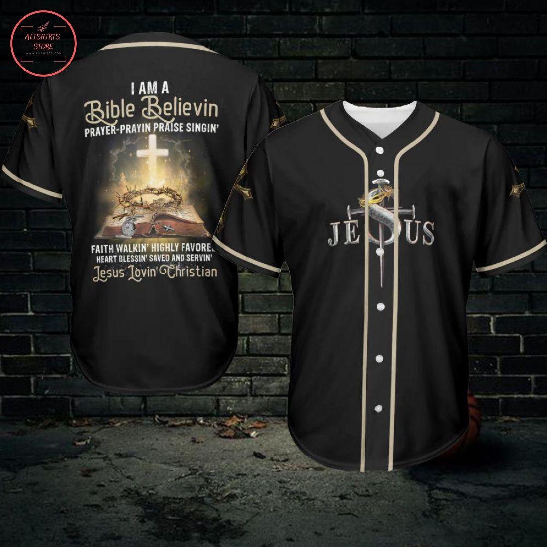 Jesus Loving Christian Baseball Jersey
