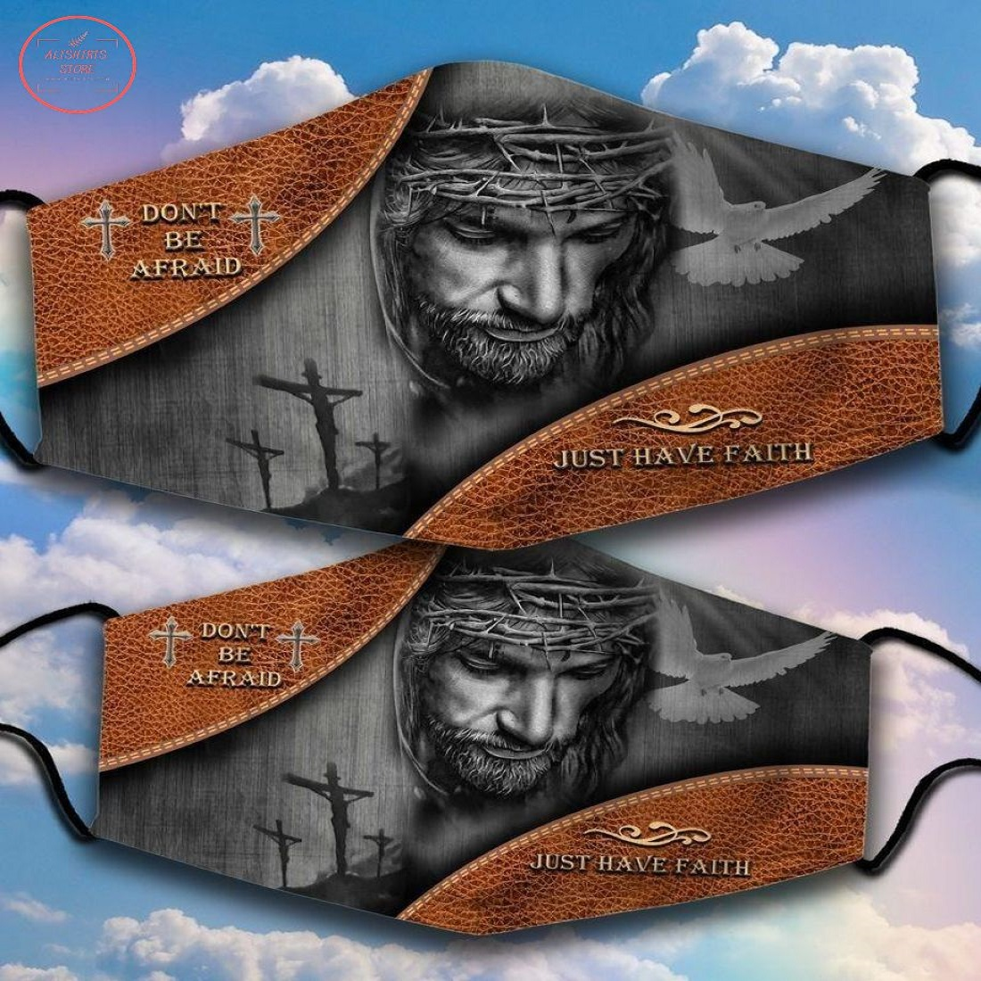 Just Have Faith Jesus Face Mask