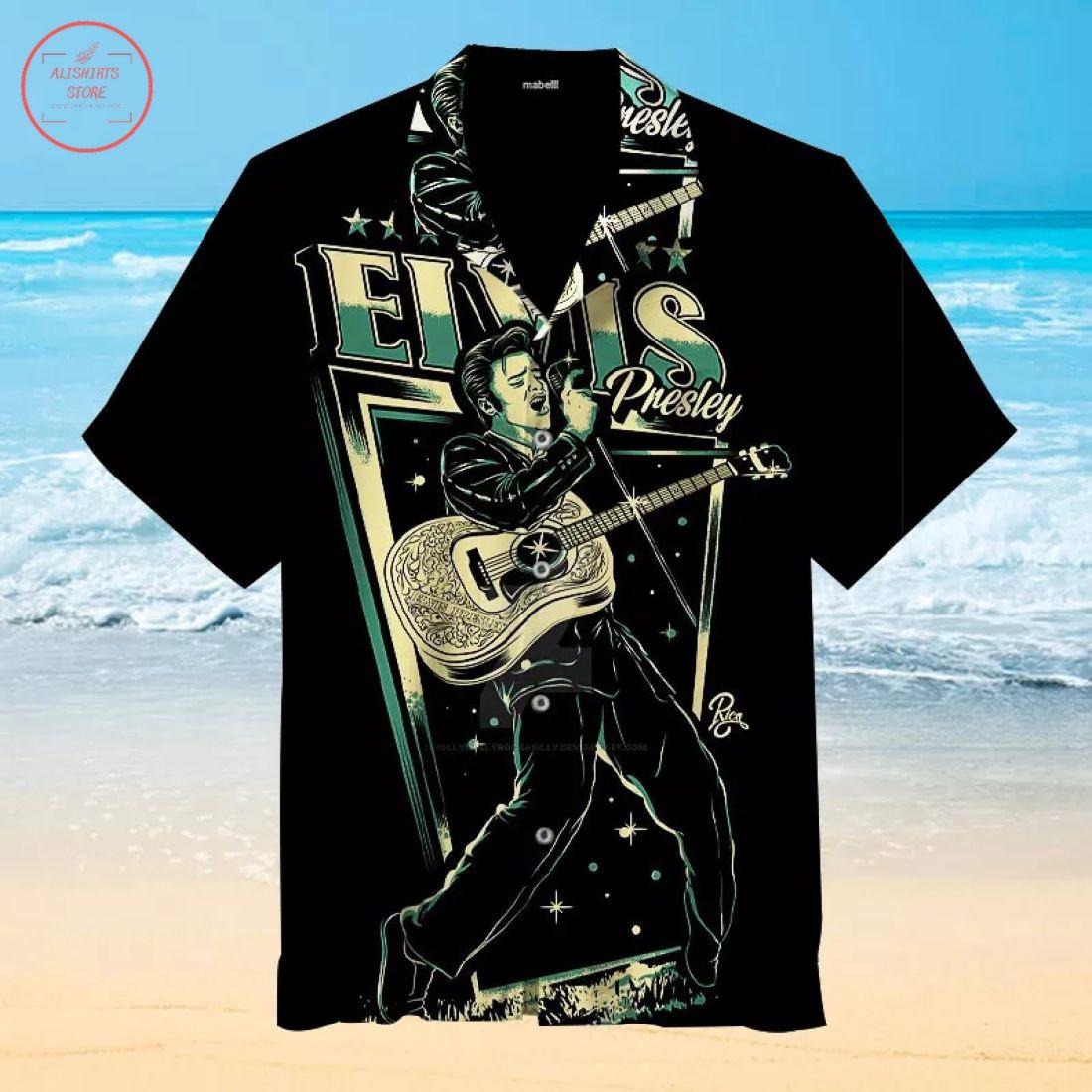 King of Rock and Roll Elvis Hawaiian Shirt