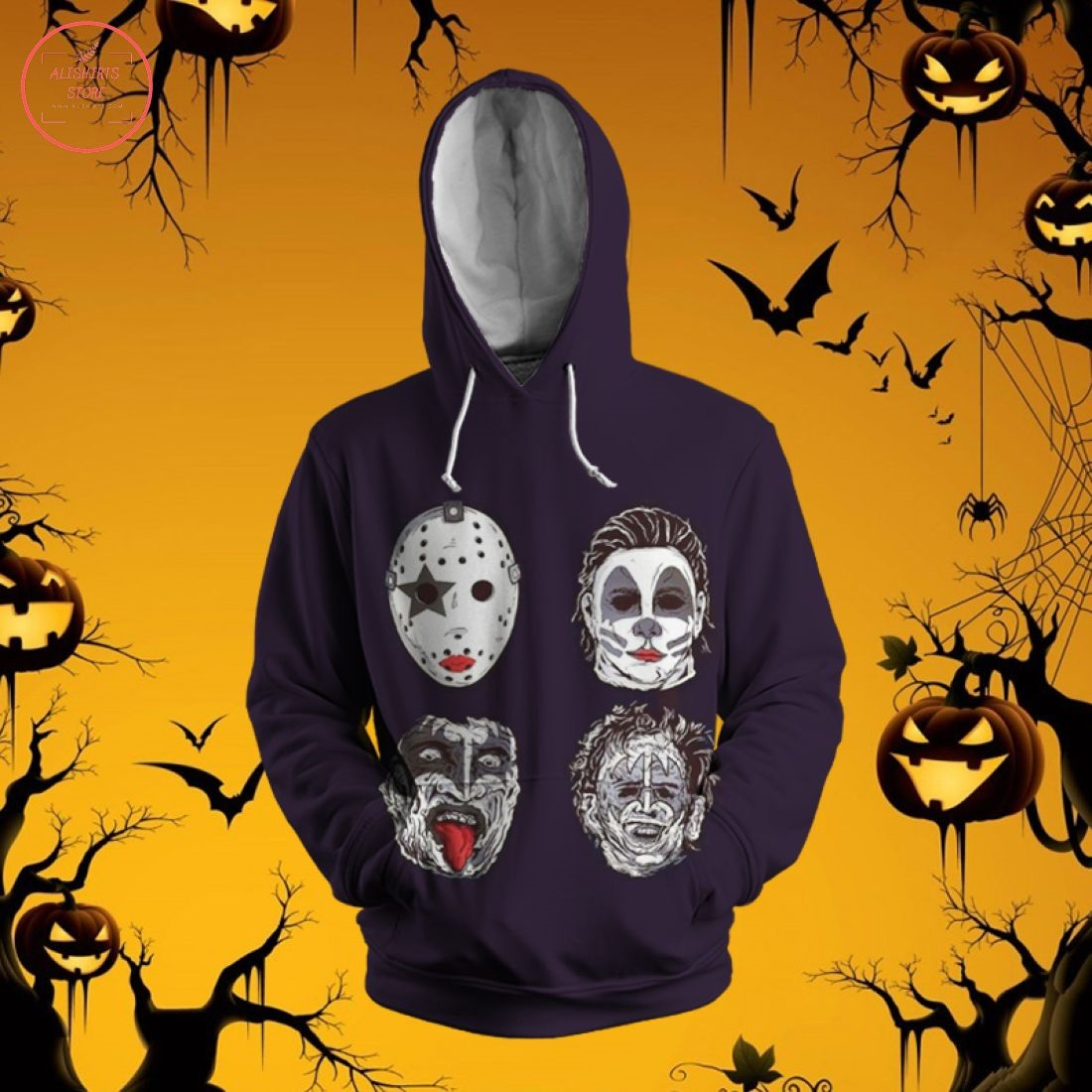 Kiss Band Halloween Limited 3D Hoodie
