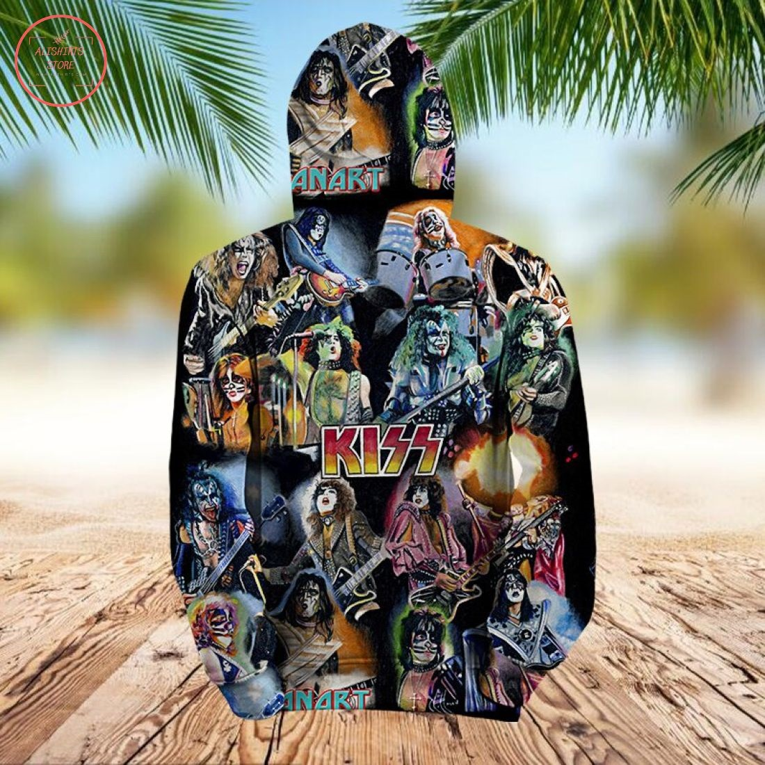 Kiss Rock Band 3D Hoodie