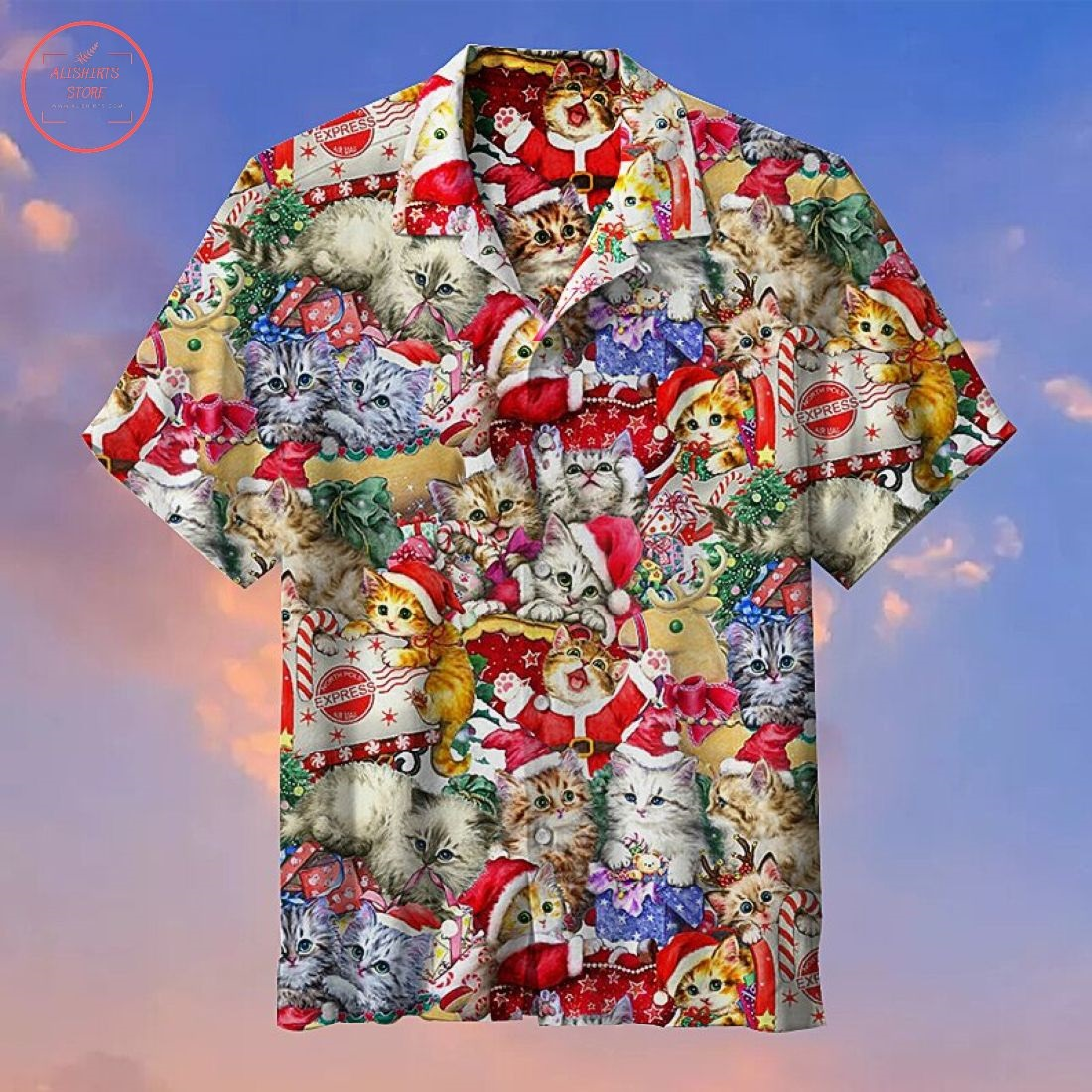 Kitten Christmas Hawaiian Shirt