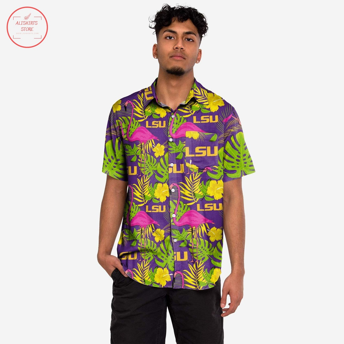 LSU Tigers Highlights Hawaiian Shirt