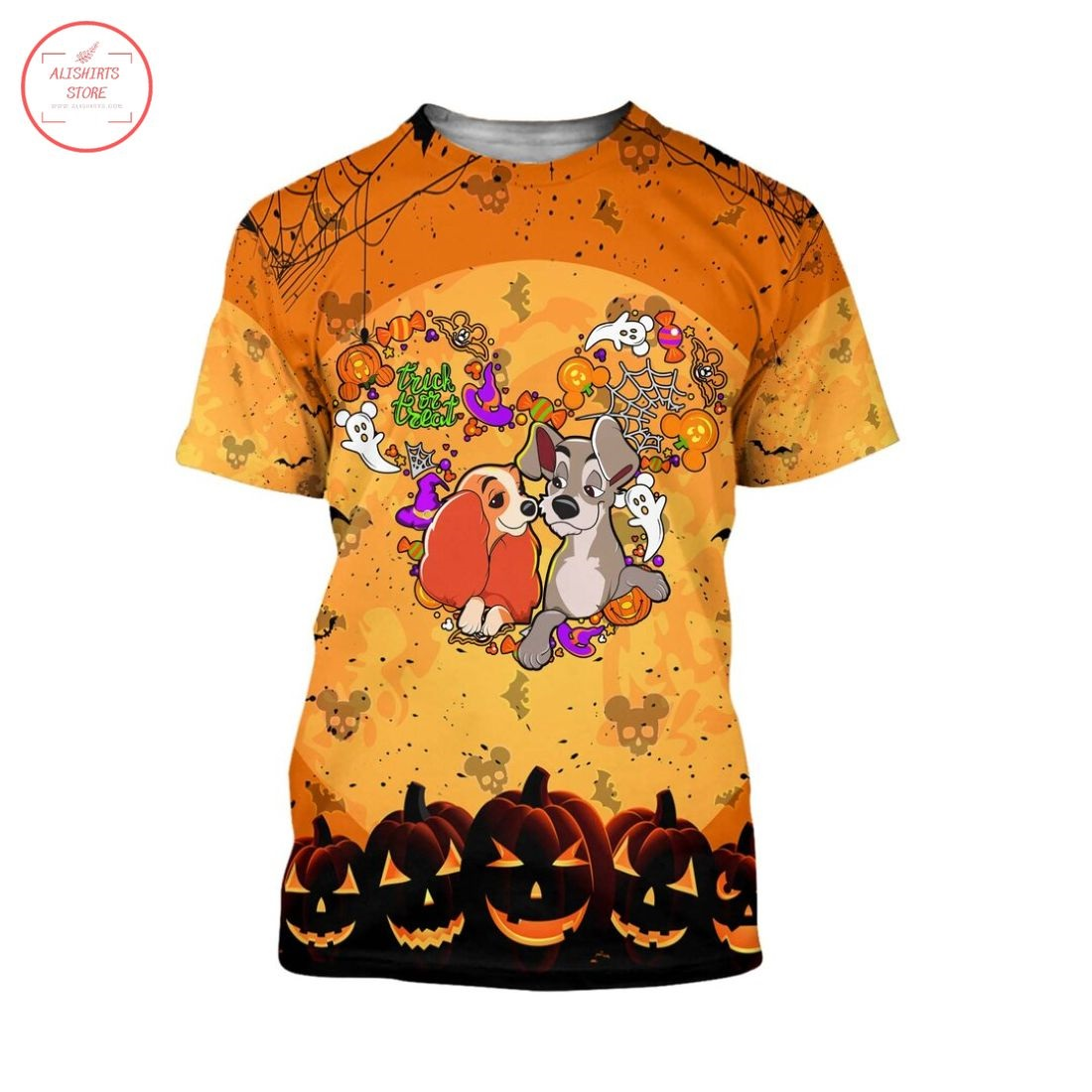 Lady and The Tramp Disney Halloween Shirt