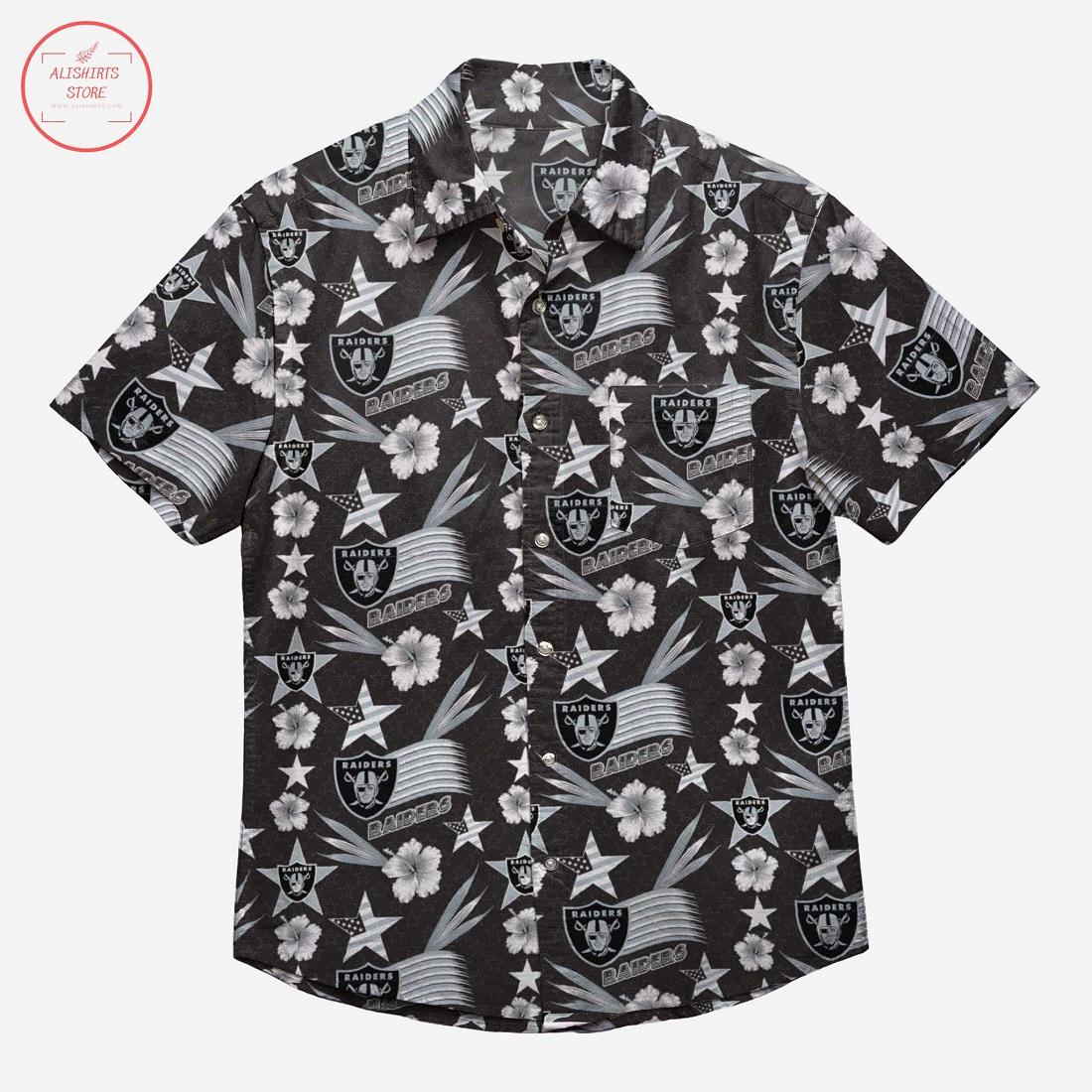 Las Vegas Raiders Americana Hawaiian Shirt