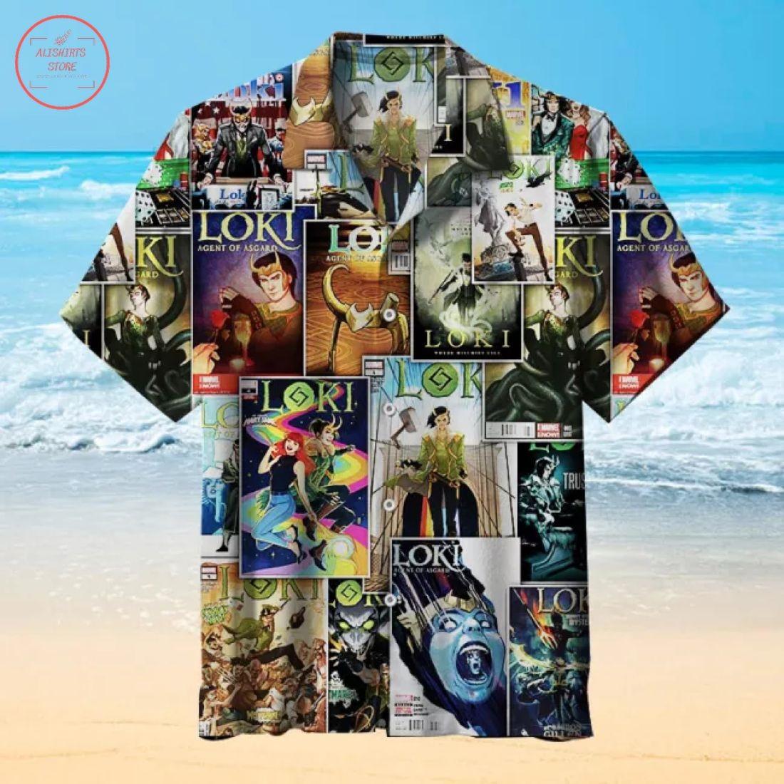 Loki Comics cover Hawaiian Shirt
