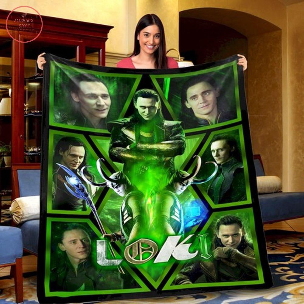 Loki Norse mythology Avengers League Fleece Blanket