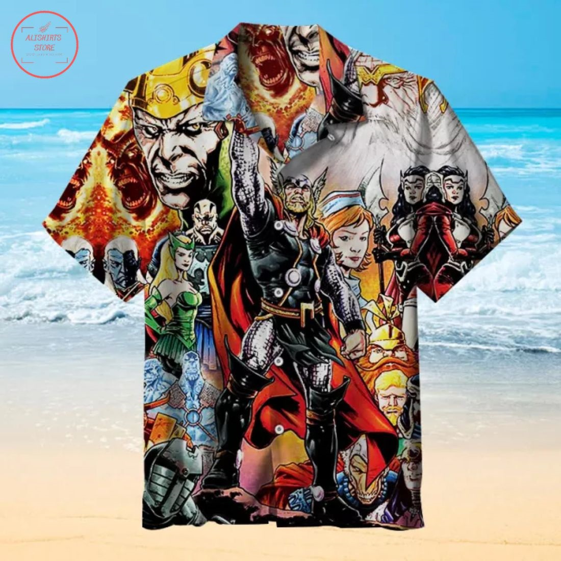 Loki and Thor Hawaiian Shirt