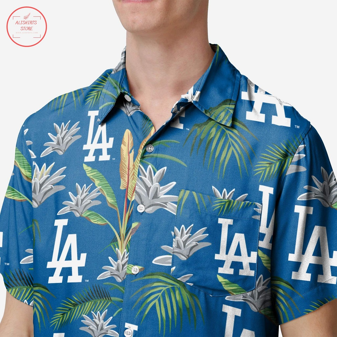 Los Angeles Dodgers Victory Vacay Hawaiian shirt