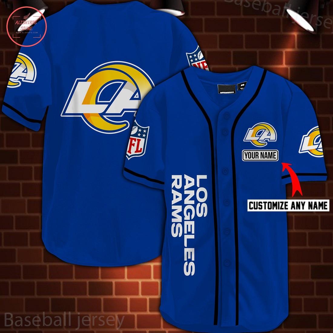 Los Angeles Rams Personalized Custom Baseball Jersey