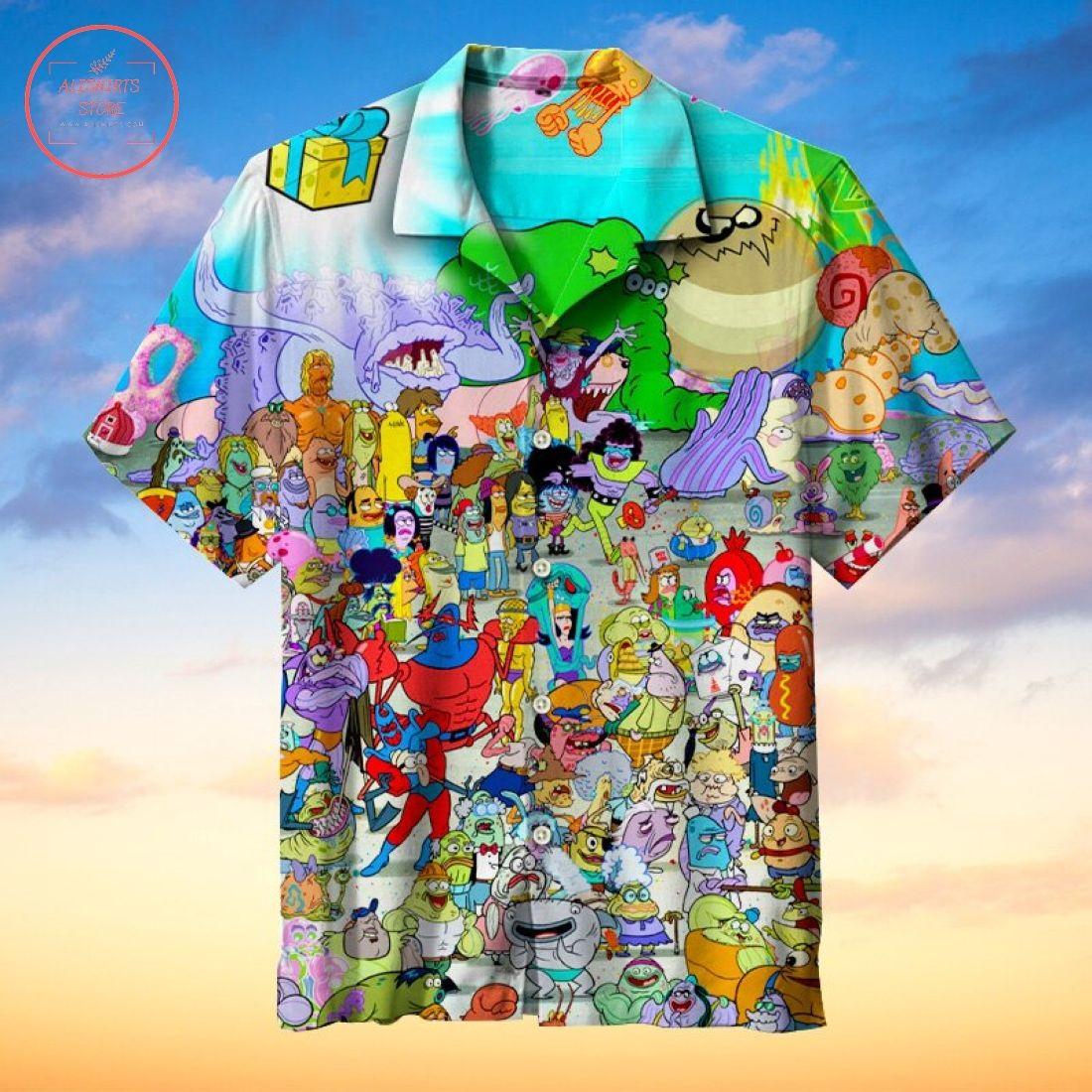 Lots of SpongeBob characters Hawaiian Shirt