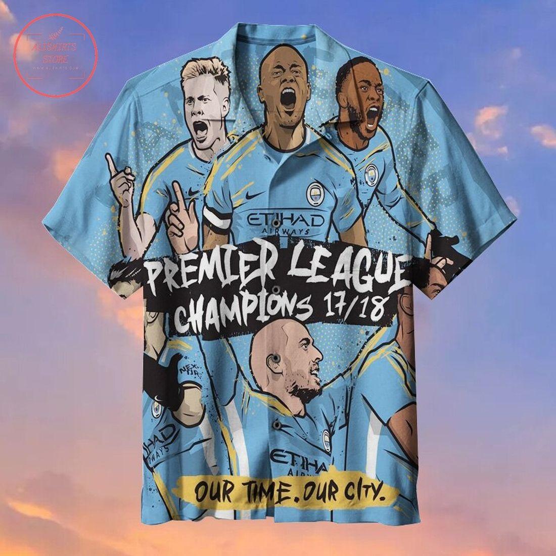 Manchester City F.C. Fans Commemorative Hawaiian Shirt