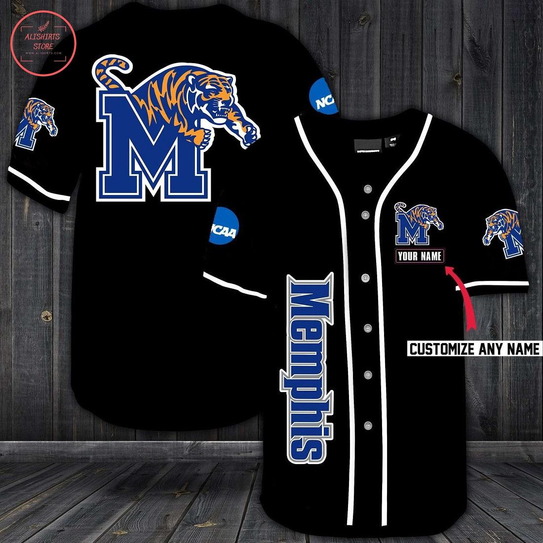 Memphis Tigers Personalized Baseball Jersey