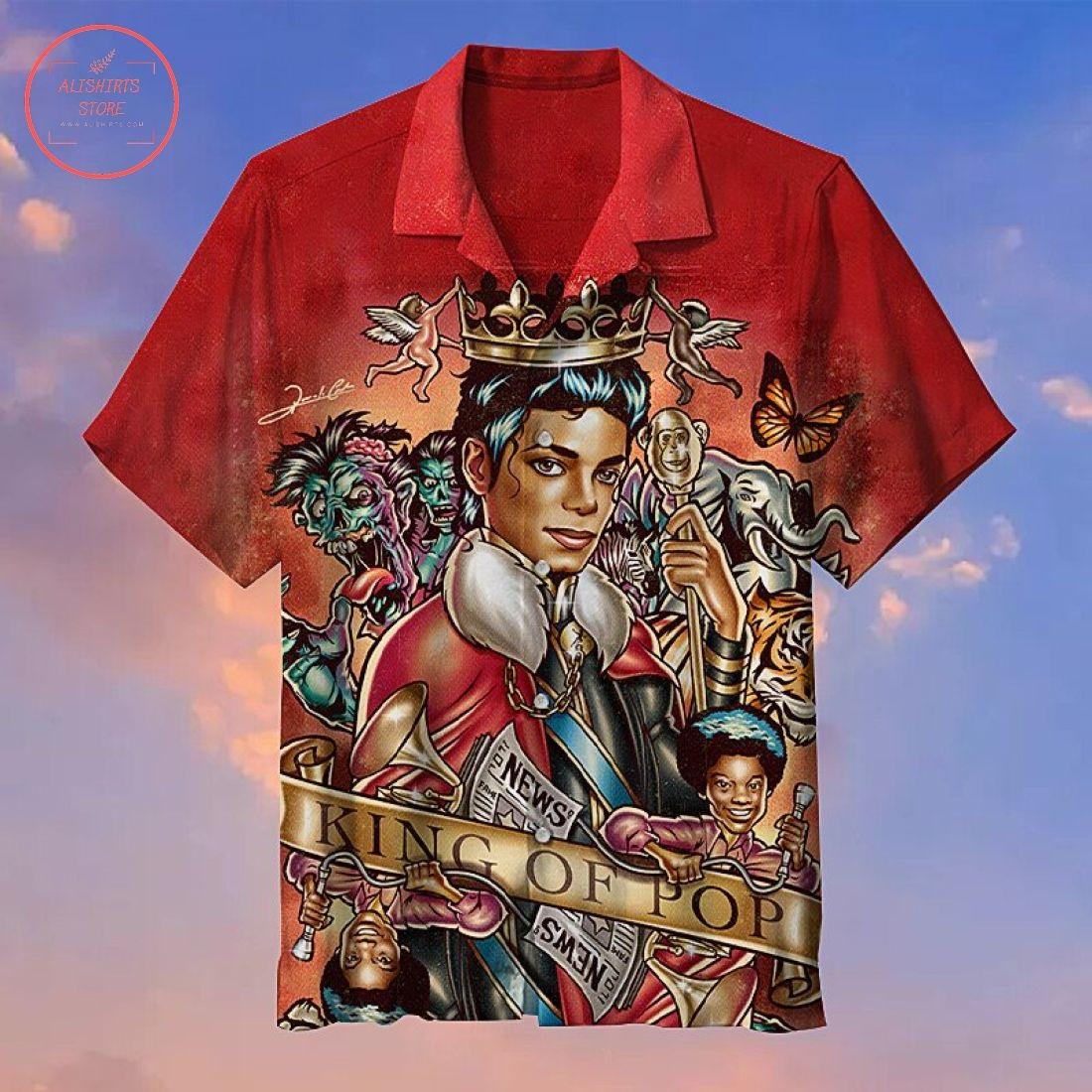Michael Jackson the king of pop music Hawaiian Shirt