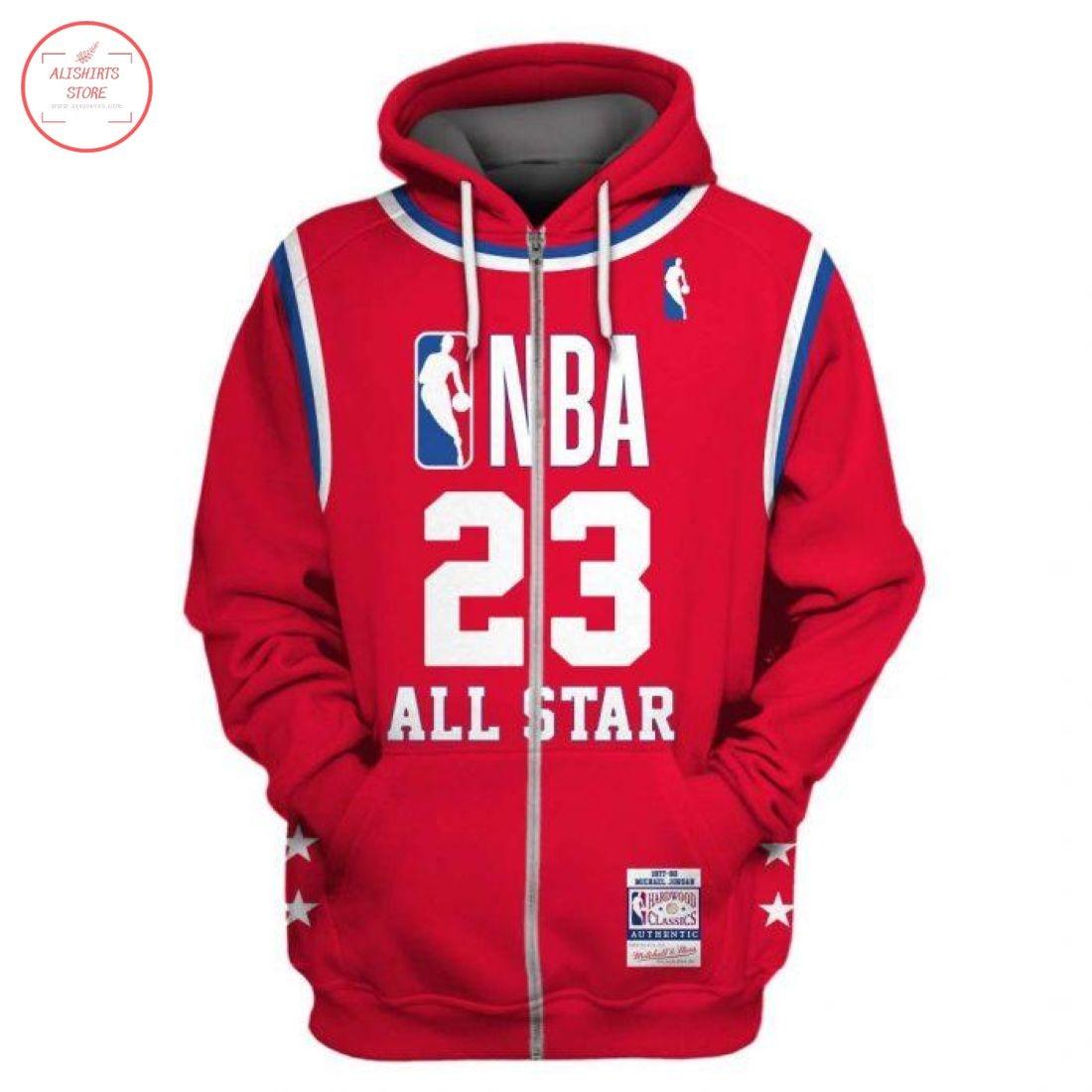 Michael Jordan 23 All Star NBA Zip Hoodie