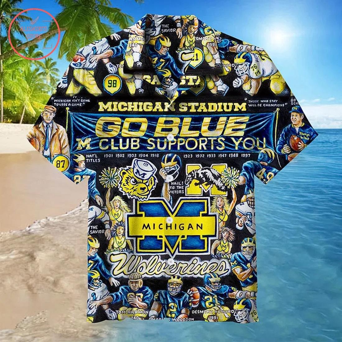 Michigan Wolverines Hawaiian Shirt