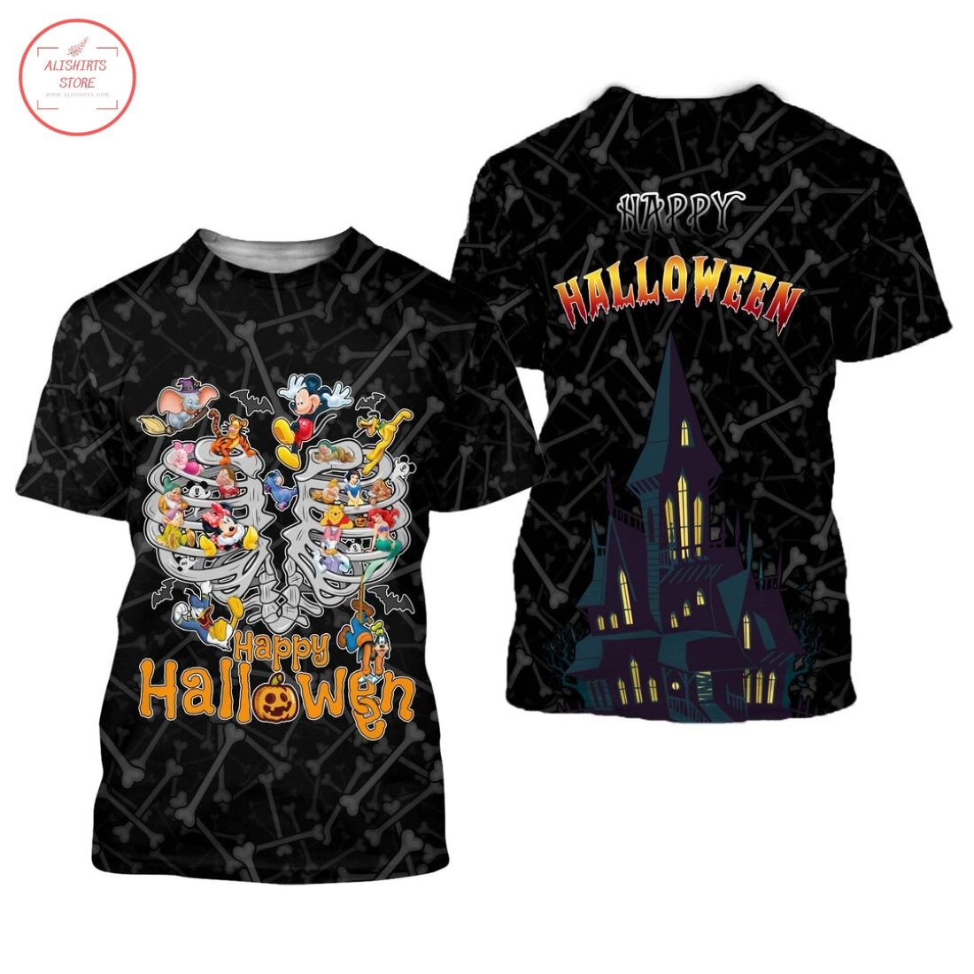 Mickey and Friends Happy Halloween Shirt