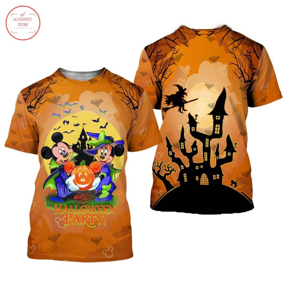 Mickey and Minnie Happy Halloween Shirt