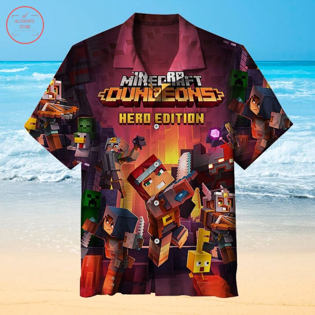 Minecraft Dungeons Hawaiian Shirt