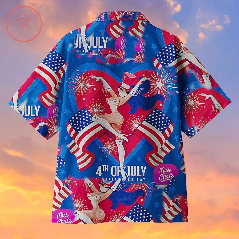 Miss Chatz 4th of July Independence Day Hawaiian Shirt