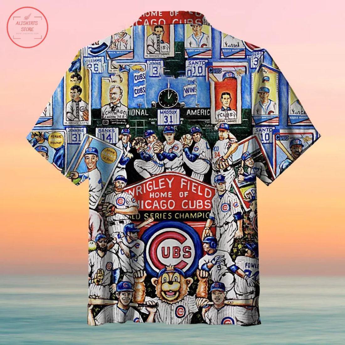 Mlb Chicago Cubs Tribute Hawaiian Shirt