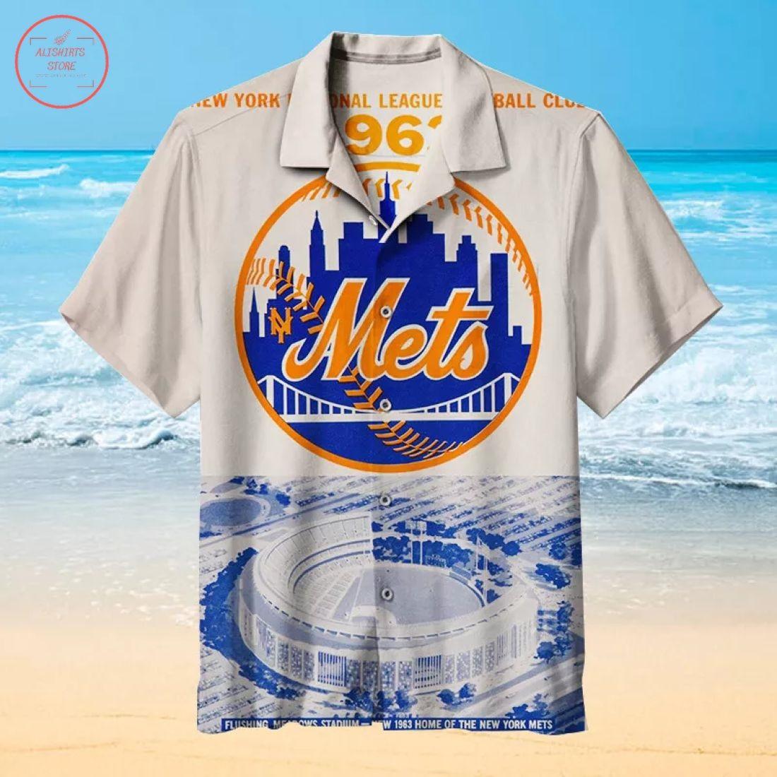 Mlb New York Mets Stadium Hawaiian Shirt