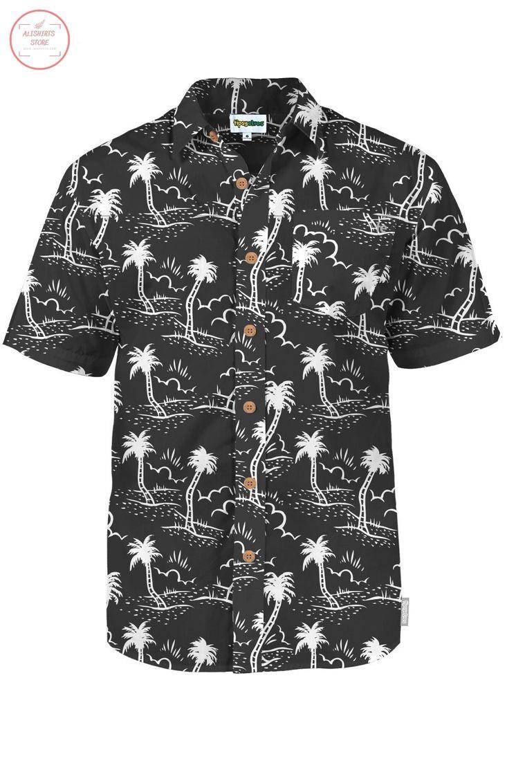 Monochrome Moonlight Hawaiian Shirt