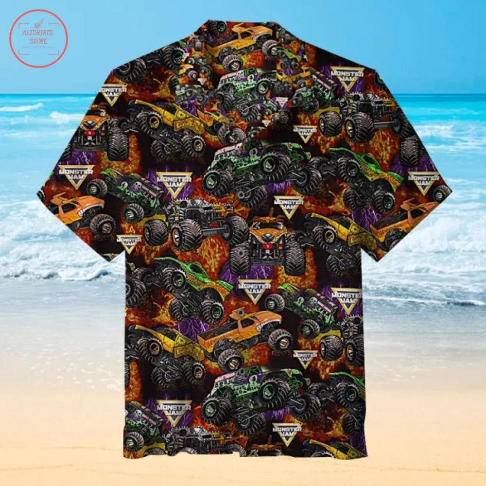 Monster Jam pattern Hawaiian Shirt