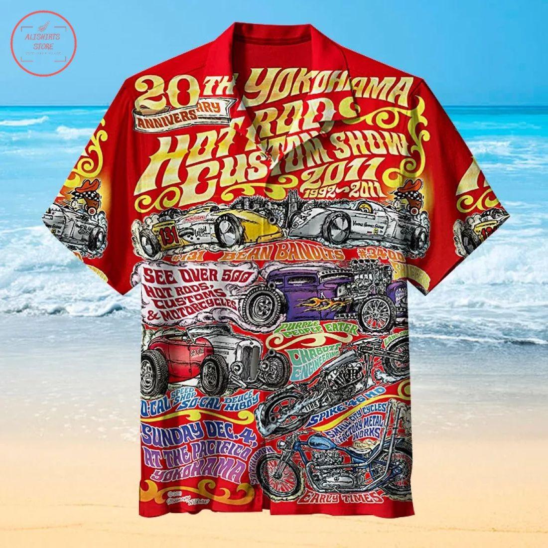 Mooneyes Hot Rod Hawaiian Shirt