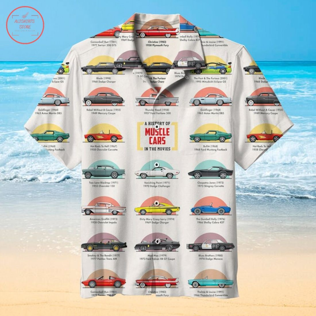 Muscle Cars Hawaiian Shirt