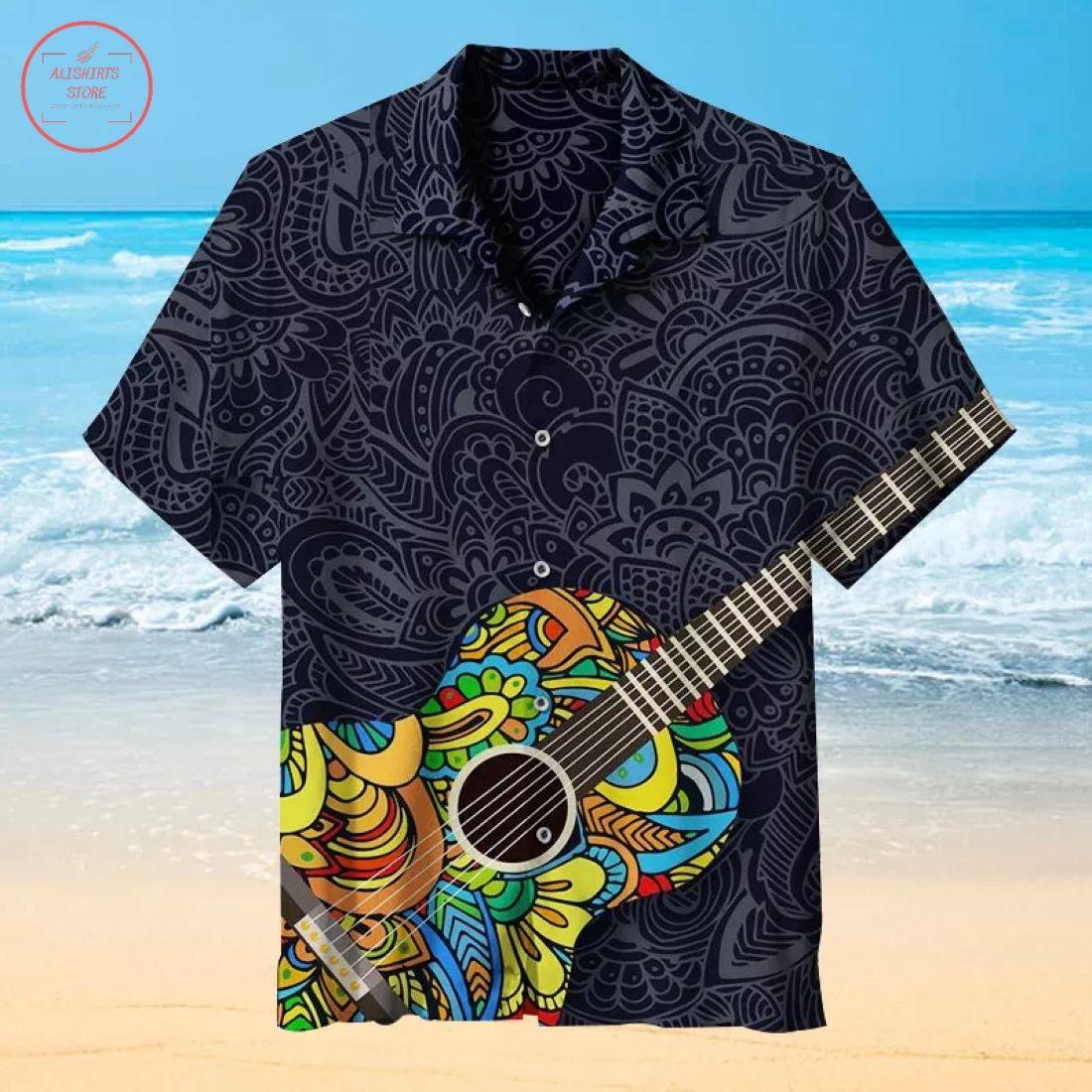 My Favorite Vintage Printed Guitar Hawaiian Shirt