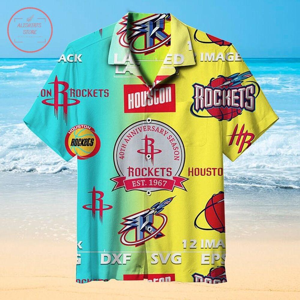 NBA 40th Anniversary Houston Rockets Hawaiian Shirt