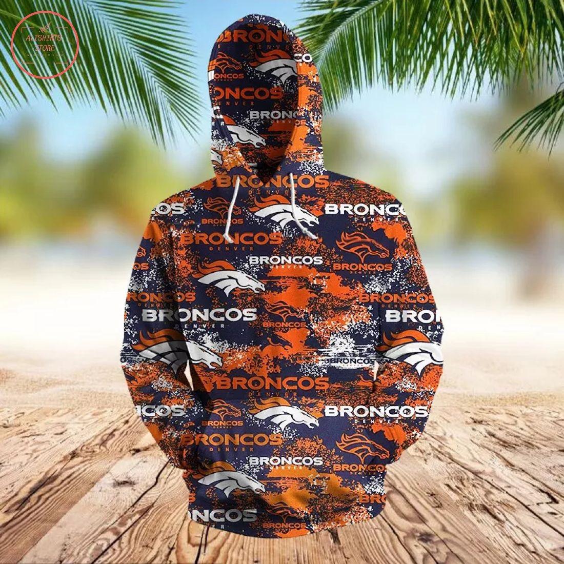NFL Denver Broncos 3D Hoodie