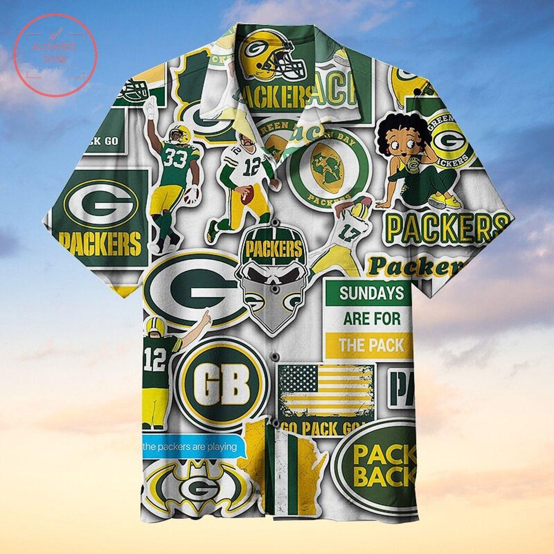 NFL Green Bay Packers Commemorative Hawaiian Shirt