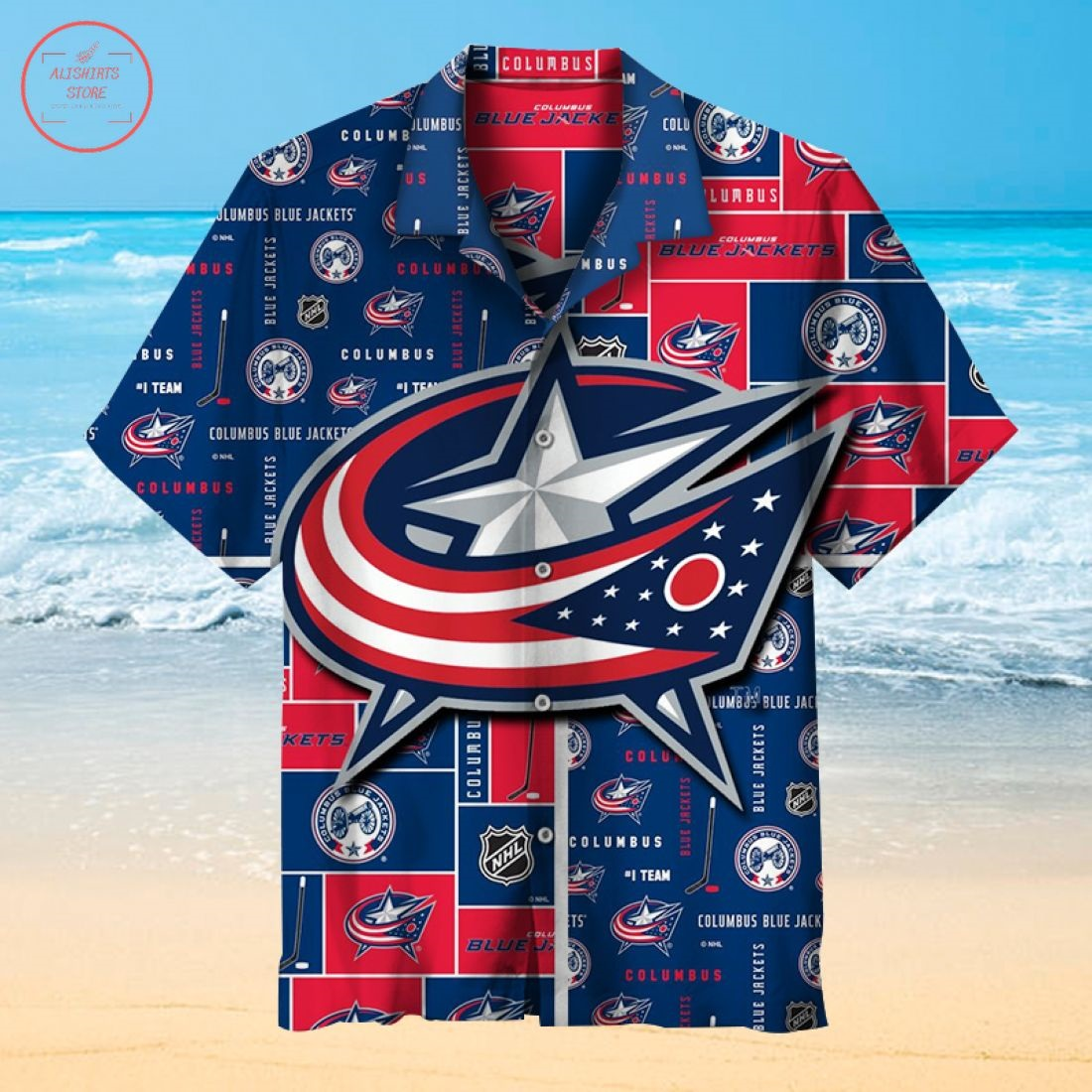 NHL Columbus Blue Jackets Hawaiian Shirt