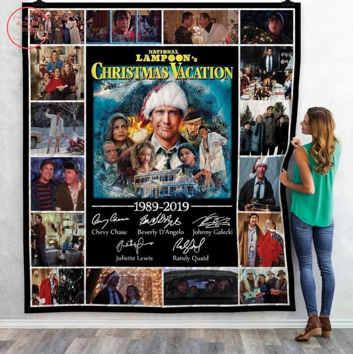 National Lampoons Christmas Vacation Quilt Blanket
