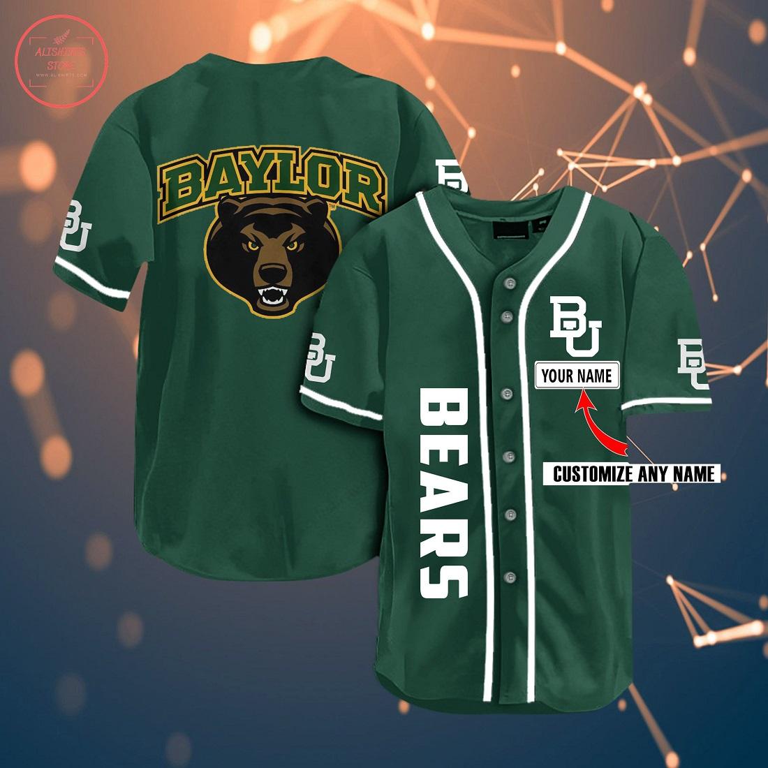 Ncaa Baylor Bears Personalized Name Baseball Jersey